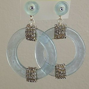 ORNA LALO Treasures Frosted Grey Blue EARRINGS